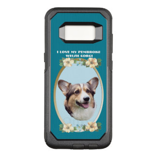 Pembroke Welsh Corgi on Teal Floral OtterBox Commuter Samsung Galaxy S8 Case