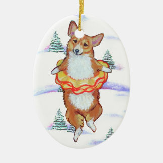 Pembroke Welsh Corgi Oval Ornament