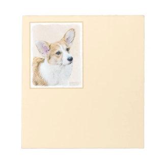 Pembroke Welsh Corgi Painting - Original Dog Art Notepad