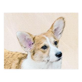 Pembroke Welsh Corgi Painting - Original Dog Art Postcard