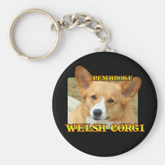 Pembroke Welsh Corgi Photo Basic Round Button Keychain