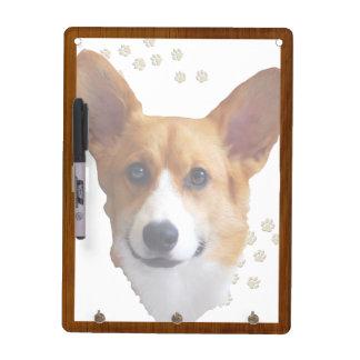 Pembroke Welsh Corgi Portrait. Dry Erase Dry Erase Board
