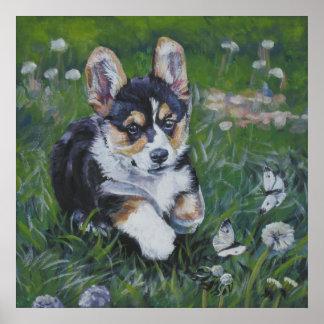 pembroke welsh corgi pup art print