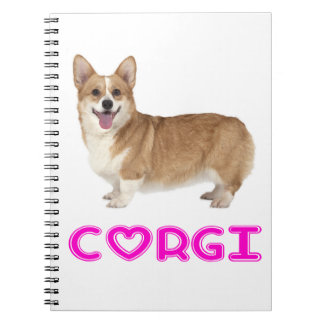 Pembroke Welsh Corgi Puppy Dog Pink Love Notebooks