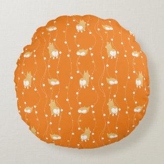 pembroke welsh corgi round pillow