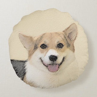 Pembroke Welsh Corgi Round Pillow