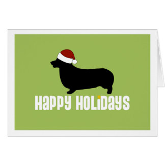 Pembroke Welsh Corgi Santa Hat Card