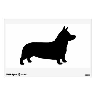Pembroke Welsh Corgi Silhouette - Facing Right Wall Sticker