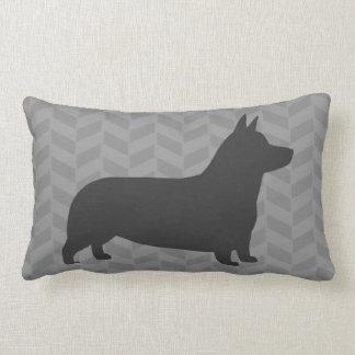 Pembroke Welsh Corgi Silhouette Lumbar Pillow