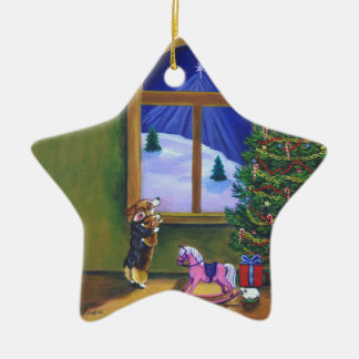 Pembroke Welsh Corgi Star Ornament