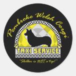 Pembroke Welsh Corgi Taxi Service Sticker
