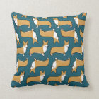 Pembroke Welsh Corgis Pattern Throw Pillow