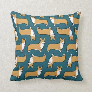 Pembroke Welsh Corgis Pattern Throw Pillow