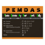 PEMDAS Order of Operations Math Poster