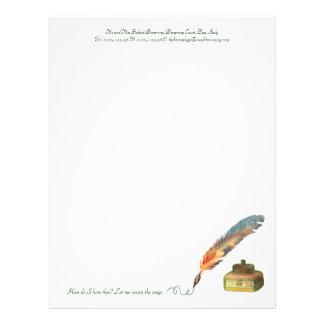 Pen and Ink Love Custom Letterhead