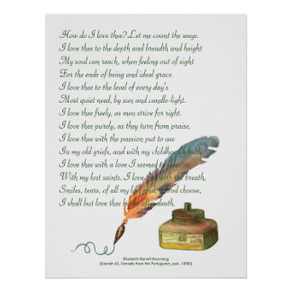 Pen and Ink Love Poster