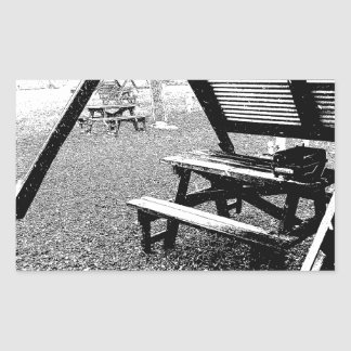 Pen and Ink Picnic Table