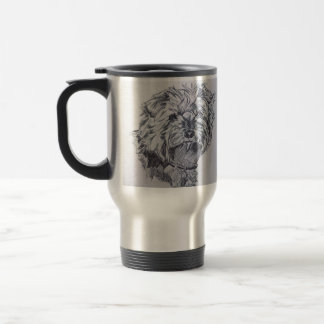 Pen and Ink Yorkshire Terrier Travel Mug