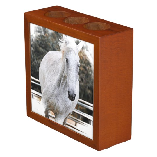 Pen and pencil holder, equestrian, horse pencil holder