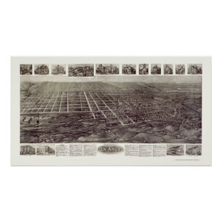 Pen Argyl, PA Panoramic Map - 1916 Poster
