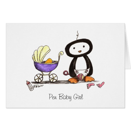 Pen Baby Girl Card