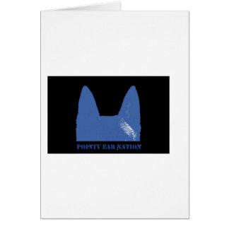 PEN Blue on black Card