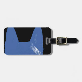 PEN Blue on black Luggage Tag