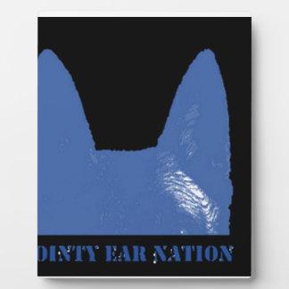 PEN Blue on black Plaque