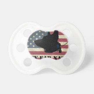 PEN Flag BlackBkg Pacifier