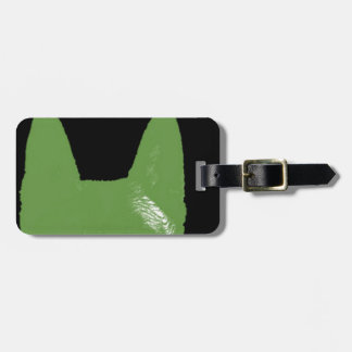 PEN Green on black Luggage Tag