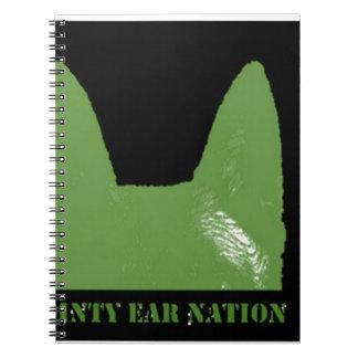 PEN Green on black Notebook