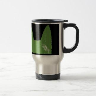 PEN Green on black Travel Mug