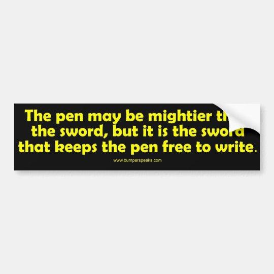 Pen is Mightier Bumper Sticker