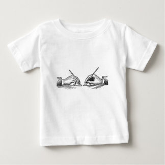Pen Is Mightier Than the Sword Writer's Hands Baby T-Shirt