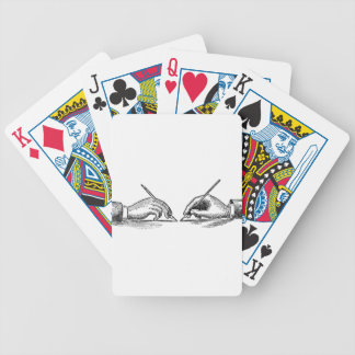 Pen Is Mightier Than the Sword Writer's Hands Bicycle Playing Cards