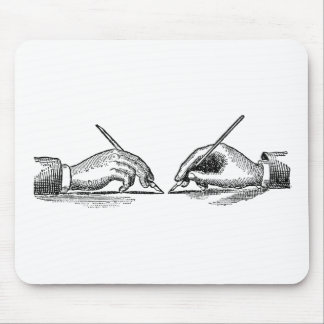Pen Is Mightier Than the Sword Writer's Hands Mouse Pad