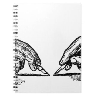 Pen Is Mightier Than the Sword Writer's Hands Notebook