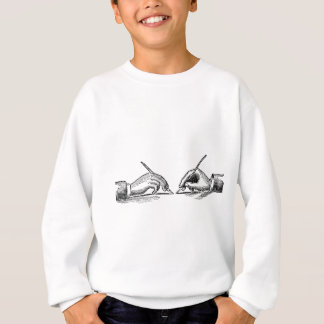 Pen Is Mightier Than the Sword Writer's Hands Sweatshirt