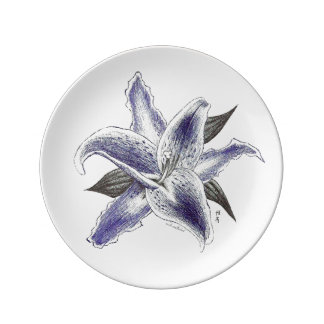 Pen Lily Porcelain Plate
