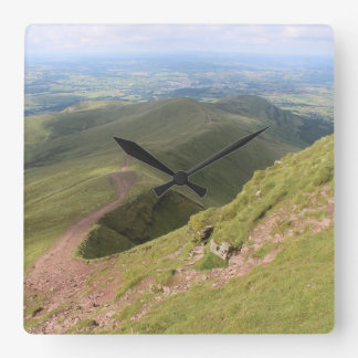 Pen y fan and Corn Du (Picture 1) Square Wall Clock
