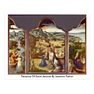 Penance Of Saint Jerome By Joachim Patinir Postcard