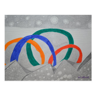 Pencil abstractly postcard