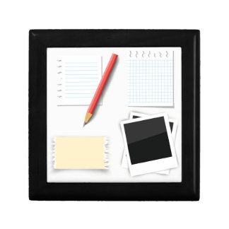 pencil and paper gift box