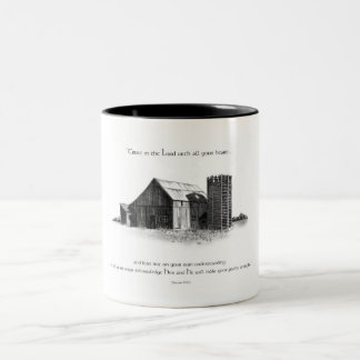 PENCIL: BARN: PROVERBS BIBLE VERSE Two-Tone COFFEE MUG