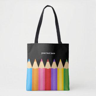 Pencil colors tote bag