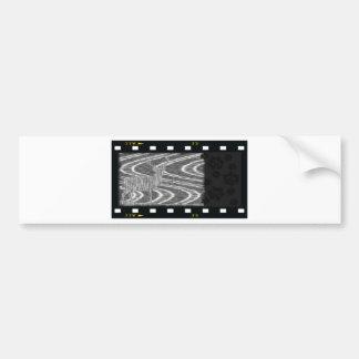 Pencil deer parched brooks film frame bumper sticker