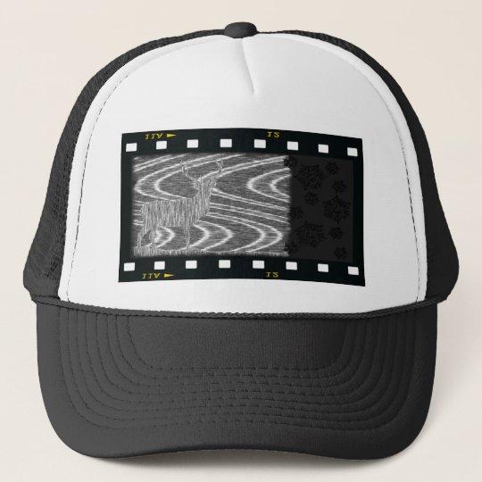 Pencil deer parched brooks film frame trucker hat
