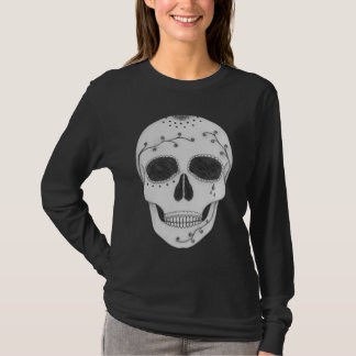 Pencil Drawing Day of the Dead Sugar Skull T-Shirt