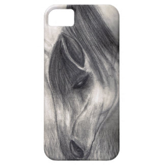 Pencil Drawing - Horse Grazing iPhone 5 Cover