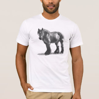 Pencil Drawing of Draft Horse T-Shirt